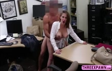 Busty brunette gives pussy for money
