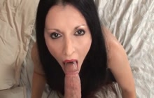 Hot MILF Foxy Anya sucks cock